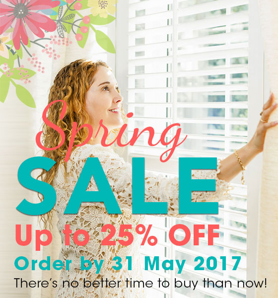 PERFECT SHUTTERS SPRING SALE - UP TO 25% OFF