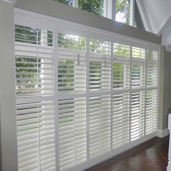 BiFolding Tracked Shutters For Large Window Areas Perfect Shutters