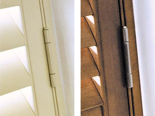 Plantation Shutters Colour Coordinated Door Hinges