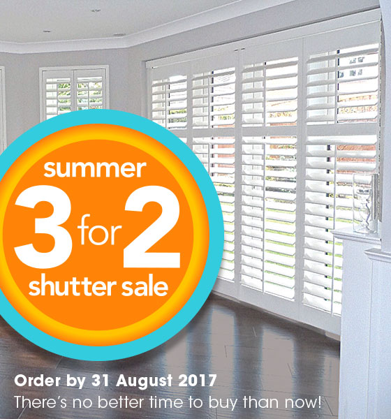 PERFECT SHUTTERS SUMMER SALE - GET 3 SHUTTERS FOR PRICE FOR 2 SHUTTERS