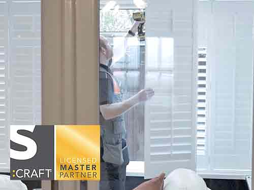 Fitting a Plantation Shutter in a home image