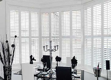 S-CRAFT Bay Window Plantation Shutters from Perfect Shutters