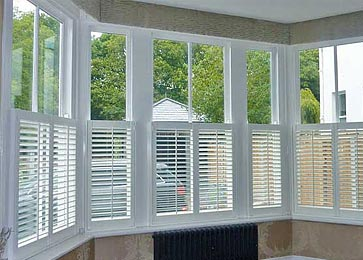 S-CRAFT Cafe-Style Plantation Shutters from Perfect Shutters
