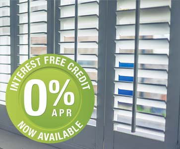 Interest Free Credit on Perfect Shutters
