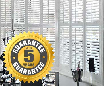 Perfect Shutters include up to 5 years warranty on selected ranges