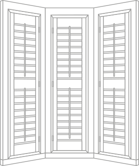 Perfect Shutters Bay Window Style Shutters