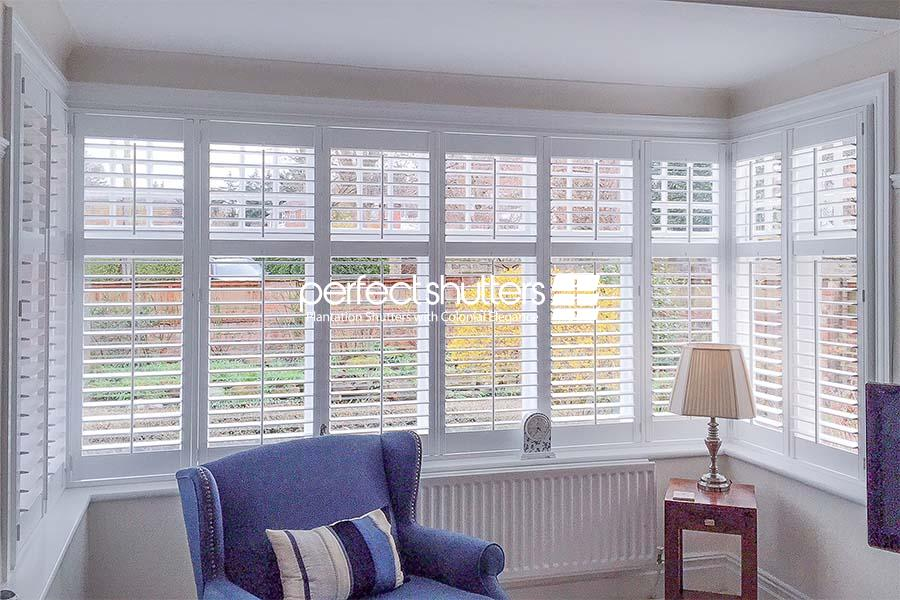 Large bay window shutters