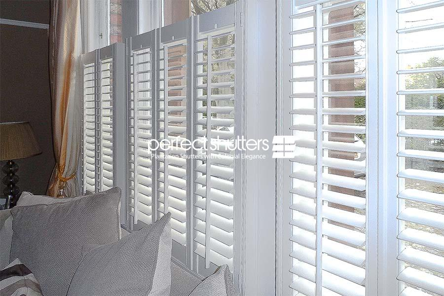 White cafe style shutters