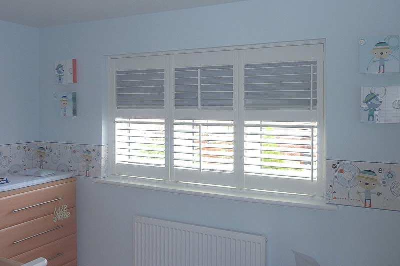 Image of a Bedroom Blackout Plantation Shutter in North West UK installed by Perfect Shutters