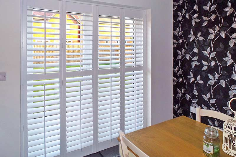 Image of French Door Shutters in North West UK installed by Perfect Shutters