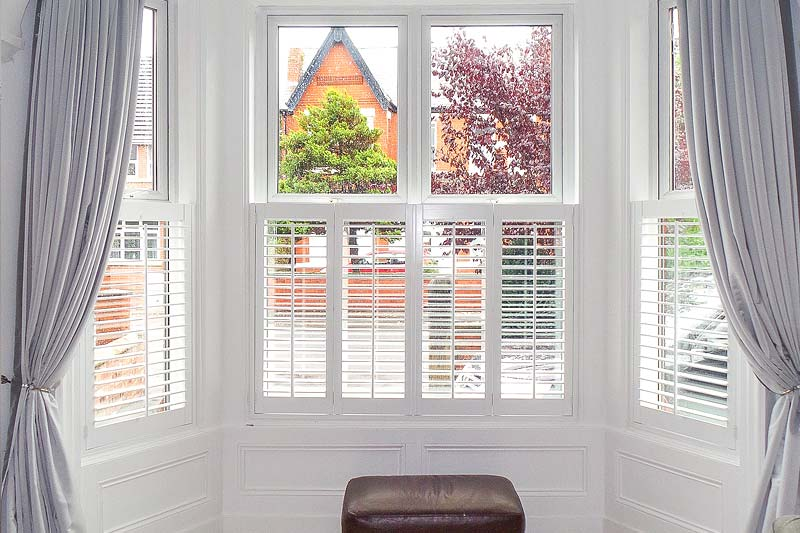 Image of a Cafe Style Shutters in North West UK installed by Perfect Shutters
