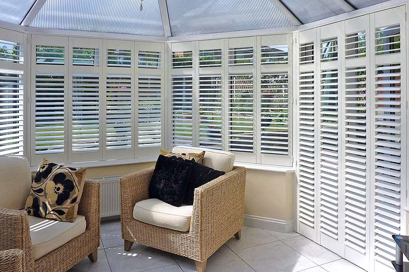 Image of Conservatory Plantation Shutter in North West UK installed by Perfect Shutters