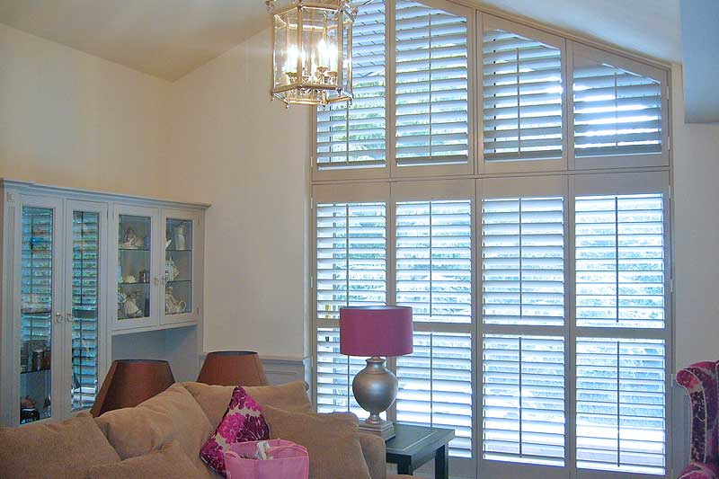 Image of Custom Shaped Shutters in North West UK installed by Perfect Shutters