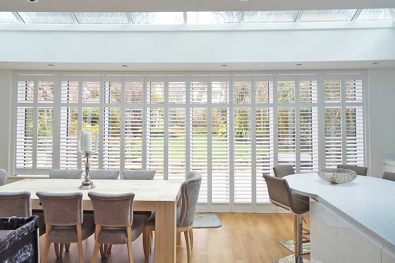 Image of Track bifold Shutters in North West UK installed by Perfect Shutters