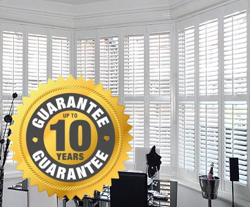 Perfect Shutters include a 10 year installation warranty