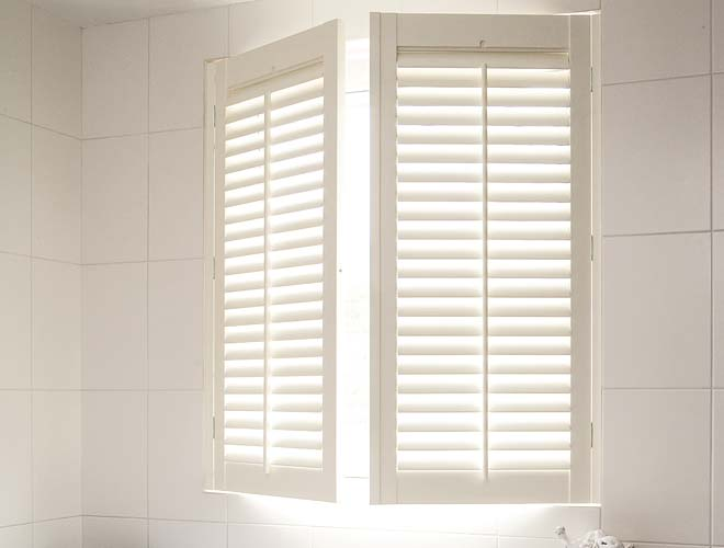Image of a Bathroom Plantation Shutter, North West UK by Perfect Shutters