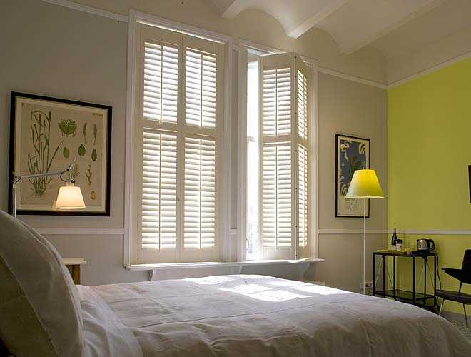 Bedroom Plantation Shutter, North West UK by Perfect Shutters
