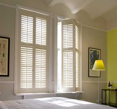 image of Plantation Shutter offering light & noise control benefits