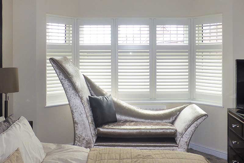 Image of Bedroom Shutters for Bay Window