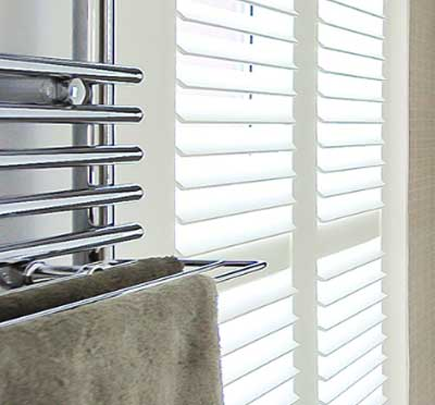 Image of energy efficient bathroom shutter blind