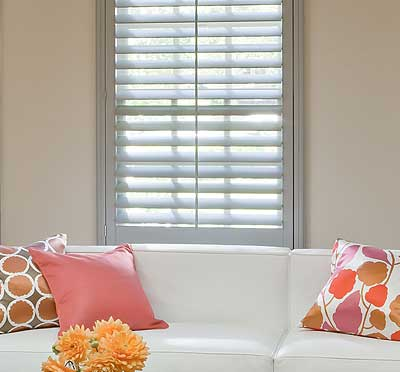 Image of energy efficient living room shutter blinds