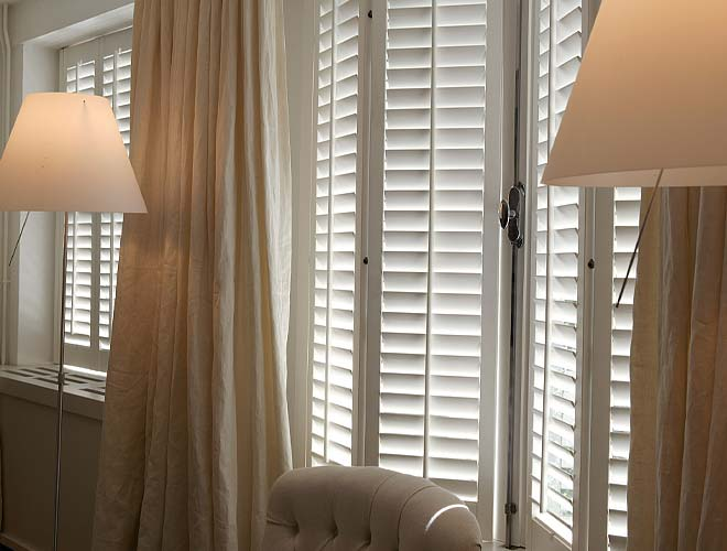 Image of a Living Room Plantation Shutter, North West UK by Perfect Shutters