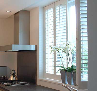 Image of Kitchen Plantation Shutters controlling light and shade