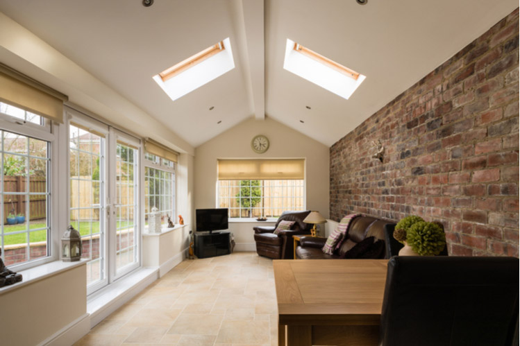 House with skylights