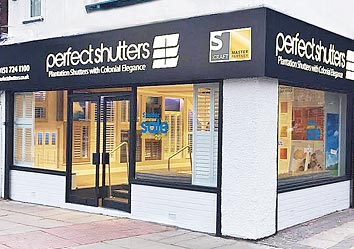 Image of Perfect Shutters showroom on Merseyside