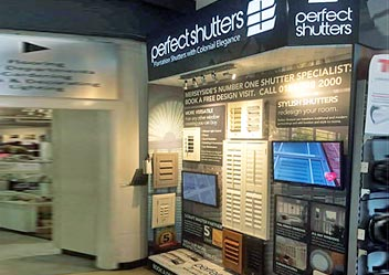 Image of Perfect Shutters Display at Taskers Store, Aintree