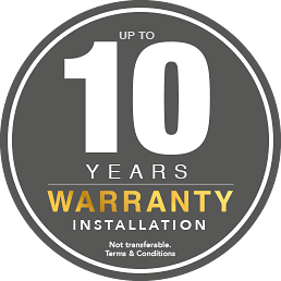 Image of 10-Year Warranty badge