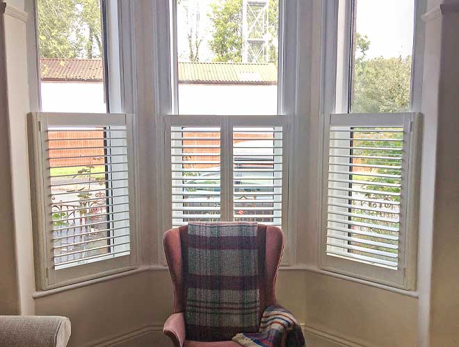 Image of a Cafe Style Plantation Shutter, North West UK by Perfect Shutters