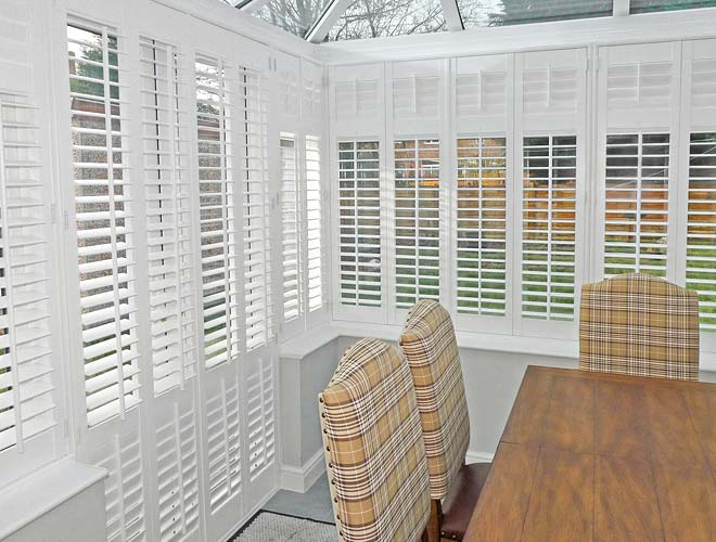 Image of a Conservatory Plantation Shutter, North West UK by Perfect Shutters