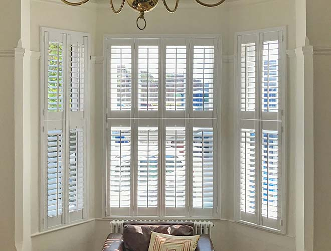 Image of a Tier on Tier Plantation Shutter, North West UK by Perfect Shutters