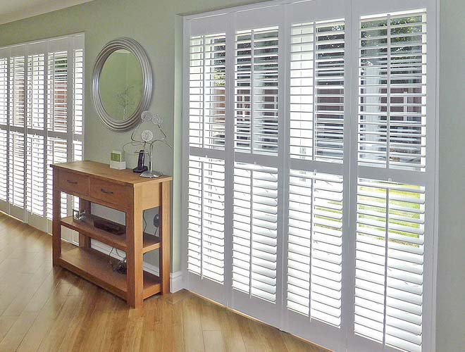 French Door Plantation Shutter, North West UK by Perfect Shutters