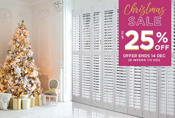 Image of 25% off Perfect Shutters badge