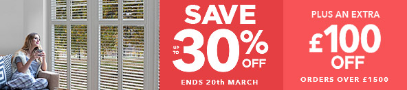 Save up to 30% Perfect Shutters