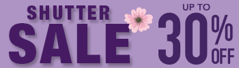 Save up to 30% off Perfect Plantation Shutters