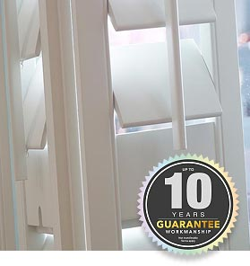 10 Year Perfect Shutters Guarantee