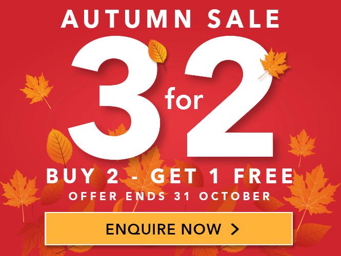 Autumn 3 for 2 Shutter Sale