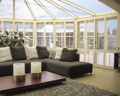 Conservatory Wood Shutters