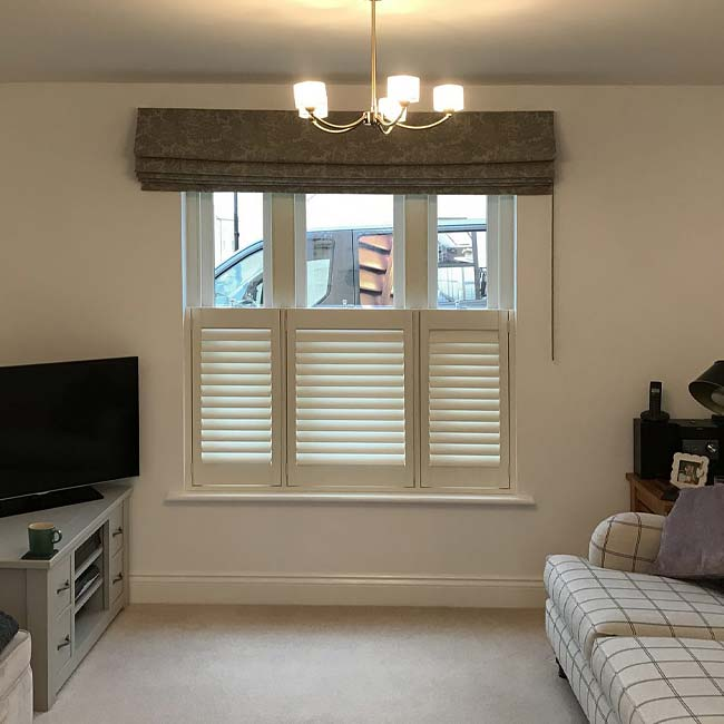 Cafe Style Shutters for Living rooms