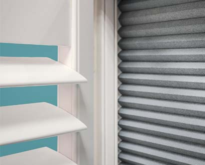 Shutter with Integrated Blind